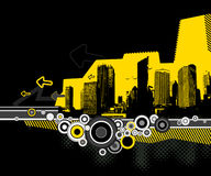 Illustration of city with skyscrapers. Vector Stock Photo