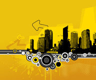 Illustration with city. Vector Royalty Free Stock Photo