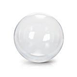 Illustration claire de la boule en verre 3D Images stock