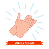 Illustration of clapping applauding hands Stock Photo