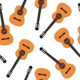 Guitar seamless pattern Stock Image