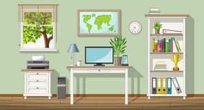 Illustration of a classic homeoffice Stock Photo