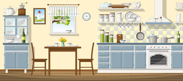 Illustration of classic kitchen Royalty Free Stock Photo