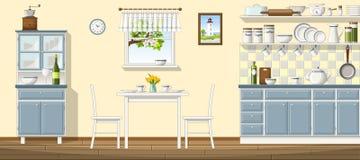 Illustration of classic kitchen Royalty Free Stock Photo