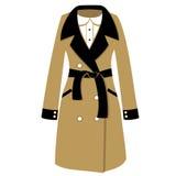 Illustration classique du manteau des femmes Images stock