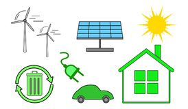 Concept of clean energy. Illustration of a clean energy concept Stock Photos