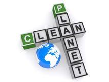 Clean planet crosswords vector illustration