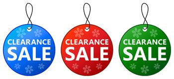 Clearance sale tag icon design set. Illustration of clearance sale tag icon design set on white background Royalty Free Stock Images