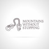 Illustration of climbing gear icon with text Stock Images