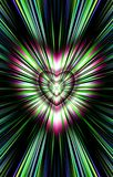 From the heart in the middle diverge the stripes to the edges. Image for the Mothers Day, Valentines Day. Illustration & Clipart. Picture for Valentines Day and Royalty Free Stock Photography