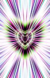 From the heart in the middle diverge the stripes to the edges. Image for the Mothers Day, Valentines Day. Illustration & Clipart. Picture for Valentines Day and Stock Photos