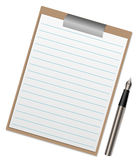 Illustration of a clipboard Stock Image