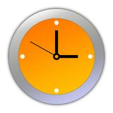 Illustration of clock face Royalty Free Stock Photo