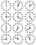 Illustration of clocks Royalty Free Stock Images