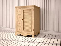 Illustration of closed wooden cupboard Royalty Free Stock Photography