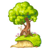 Illustration of a closeup tree Royalty Free Stock Photography