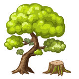 Illustration of a closeup tree Royalty Free Stock Image