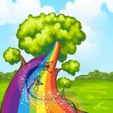 Illustration of a closeup tree Royalty Free Stock Photos
