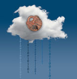 Illustration of cloud computing security challenges Stock Photos