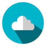Illustration is a cloud icon as a data representation symbol.   Can be used in the media. Royalty Free Stock Photo