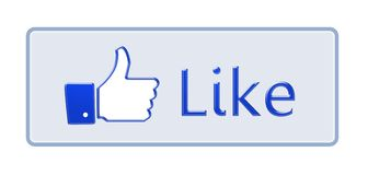 Facebook like thumb up sign Isolated on white Royalty Free Stock Photography