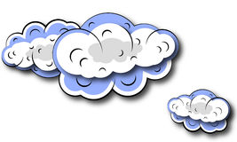 Illustration of  clouds Royalty Free Stock Photo
