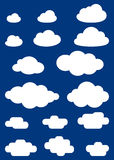 Illustration of clouds collection Royalty Free Stock Photography