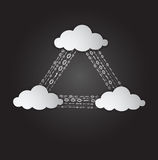 Illustration of clouds computing services Stock Images