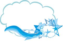 Illustration of clouds and stars Royalty Free Stock Images