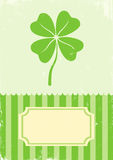 Illustration of clover with four leaves Stock Photos