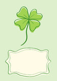 Illustration of clover with four leaves Royalty Free Stock Image