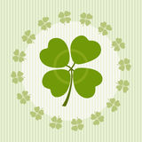 Illustration of clover with four leaves on luck. For design Royalty Free Stock Image