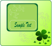 Illustration clover on St. Patrick's Day. Vectors illustration Royalty Free Illustration