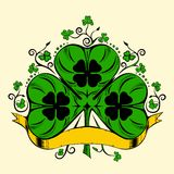 Illustration of clover, trefoil Royalty Free Stock Photos