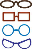 Illustration Clown glasses. On a white background Royalty Free Stock Photography