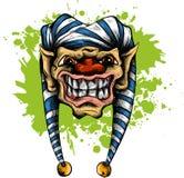 Illustration clown skull isolated on white background royalty free illustration