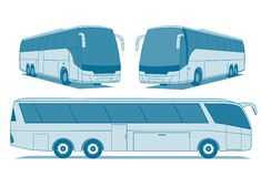 Coach buses Royalty Free Stock Images