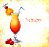 Illustration of cocktail Stock Images