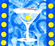Illustration of cocktail. Background with alcohol cocktail drink Royalty Free Stock Image