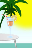 Illustration of cocktail is in glass Royalty Free Stock Photo