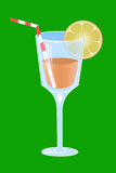 Illustration of cocktail is in glass Royalty Free Stock Photos