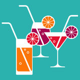 Illustration of cocktail glasses Stock Images