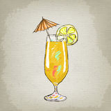 Illustration of cocktail Royalty Free Stock Photography