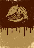 Illustration of cocoa and chocolate Stock Images