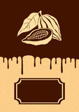 Illustration of cocoa and chocolate Stock Photography
