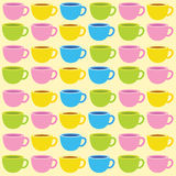 Illustration coffee cup. Colorful patternrn Royalty Free Stock Photo