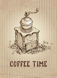 Illustration of coffee grinder Royalty Free Stock Image