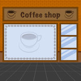 Illustration of coffee shop Royalty Free Stock Image