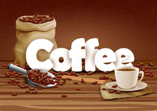 Illustration of Coffee wallpaper food background Royalty Free Stock Photo