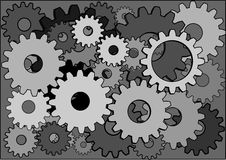 Cogwheels background Royalty Free Stock Photos